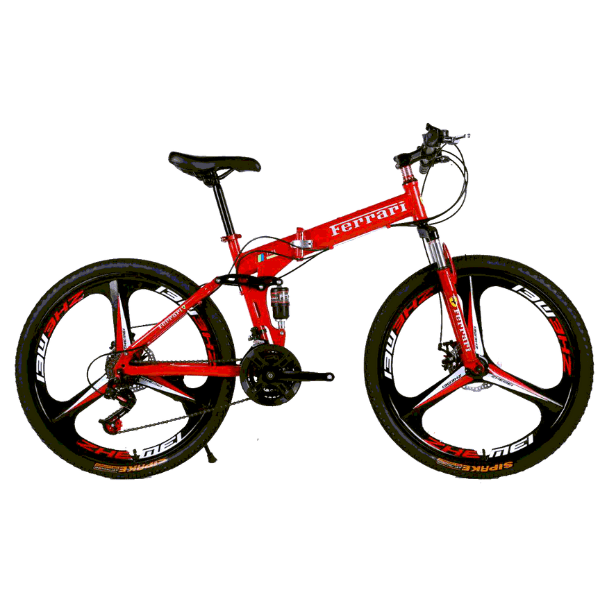 Велосипед на литых дисках не складной Ferrari