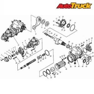 Схема рулевого механизма КАМАЗ