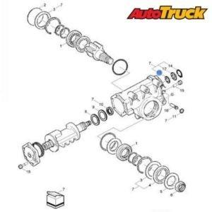 Схема рулевого механизма VOLVO